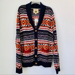 O'hanlon Mills Sweater Cardigan Lamswool Size L
